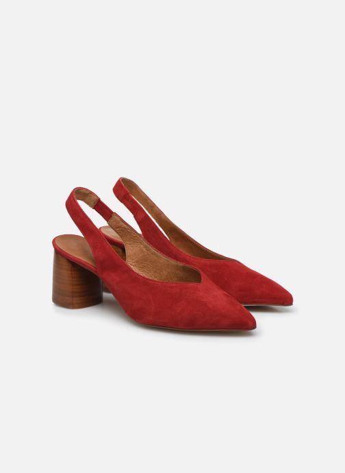 Zapatos de tacón Made by SARENZA Summer Folk Escarpin #1 Rojo vistra trasera
