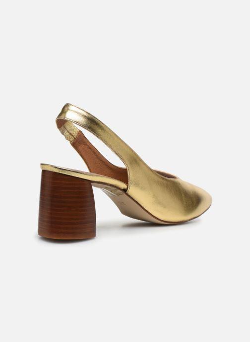 Zapatos de tacón Made by SARENZA Summer Folk Escarpin #1 Oro y bronce vista de frente