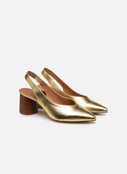 Zapatos de tacón Made by SARENZA Summer Folk Escarpin #1 Oro y bronce vistra trasera