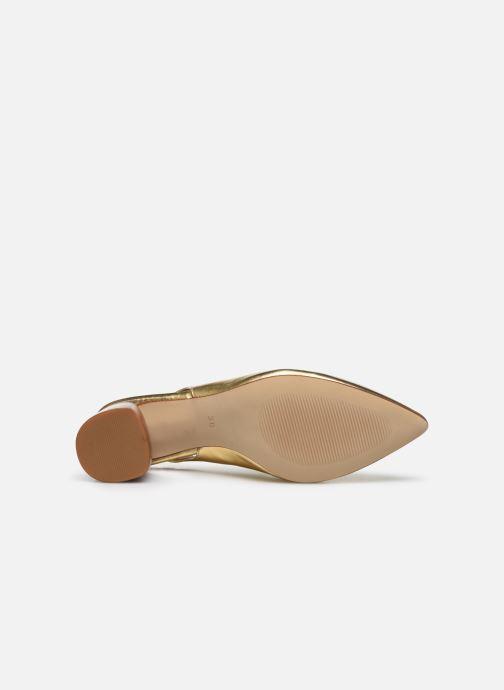 Zapatos de tacón Made by SARENZA Summer Folk Escarpin #1 Oro y bronce vista de arriba