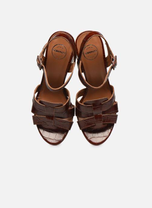 Sandali e scarpe aperte Made by SARENZA South Village Sandales à Talons #1 Marrone modello indossato