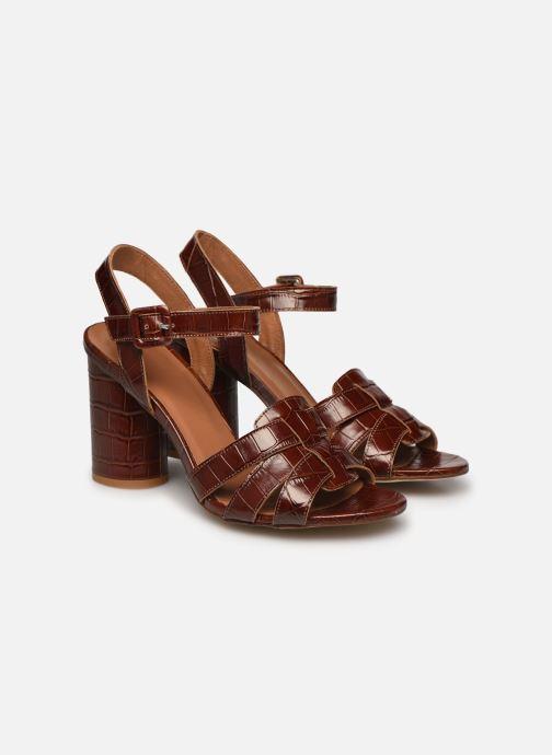 Sandali e scarpe aperte Made by SARENZA South Village Sandales à Talons #1 Marrone immagine posteriore