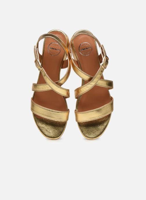 Sandales et nu-pieds Made by SARENZA South Village Sandales à Talons #3 Or et bronze vue portées chaussures