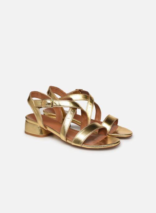 Sandales et nu-pieds Made by SARENZA South Village Sandales à Talons #3 Or et bronze vue derrière