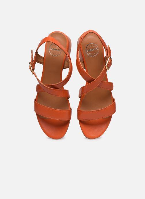 Sandales et nu-pieds Made by SARENZA South Village Sandales à Talons #3 Orange vue portées chaussures