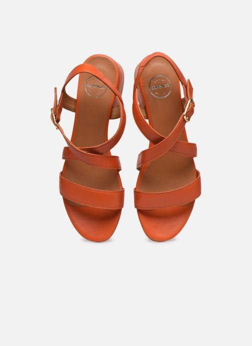Sandalen Made by SARENZA South Village Sandales à Talons #3 orange schuhe getragen