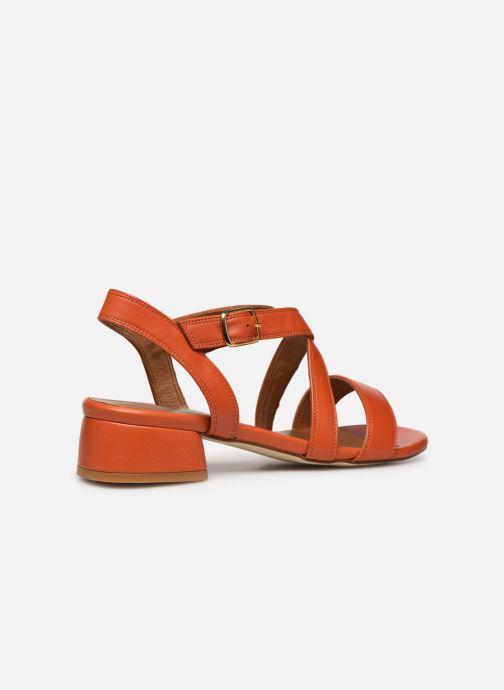 Sandales et nu-pieds Made by SARENZA South Village Sandales à Talons #3 Orange vue face