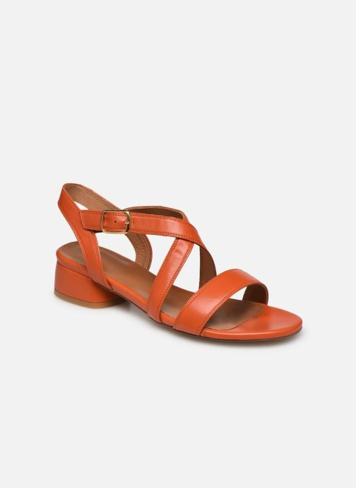 Sandales et nu-pieds Made by SARENZA South Village Sandales à Talons #3 Orange vue droite