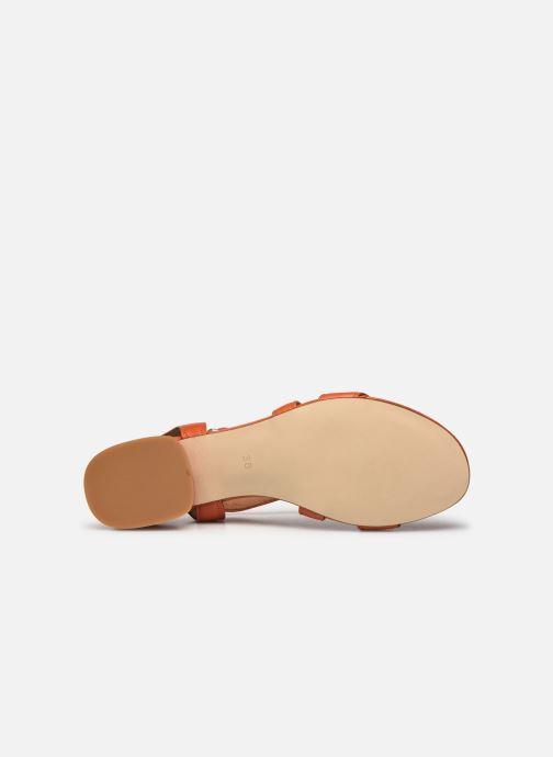 Sandales et nu-pieds Made by SARENZA South Village Sandales à Talons #3 Orange vue haut
