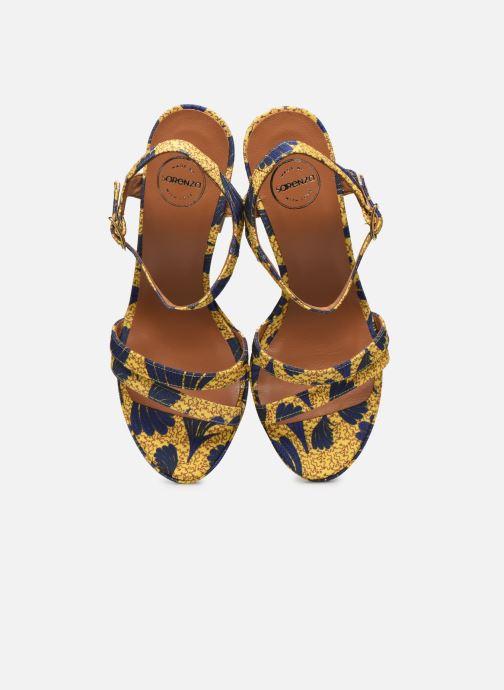 Sandales et nu-pieds Made by SARENZA Riviera Couture Sandales à Talon #7 Jaune vue portées chaussures