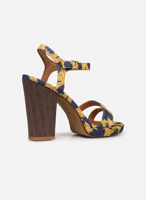 Sandales et nu-pieds Made by SARENZA Riviera Couture Sandales à Talon #7 Jaune vue face