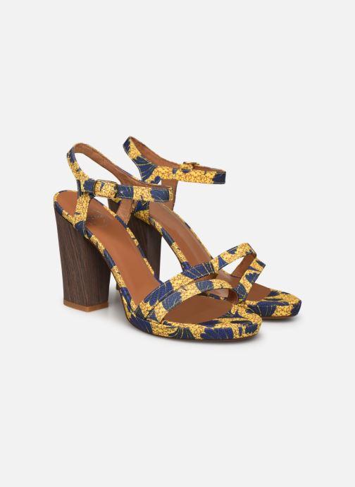 Sandales et nu-pieds Made by SARENZA Riviera Couture Sandales à Talon #7 Jaune vue derrière