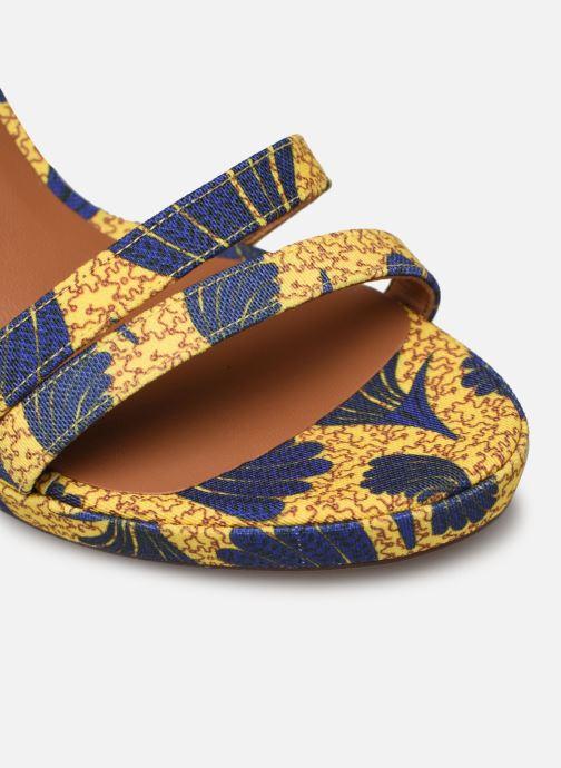 Sandales et nu-pieds Made by SARENZA Riviera Couture Sandales à Talon #7 Jaune vue gauche