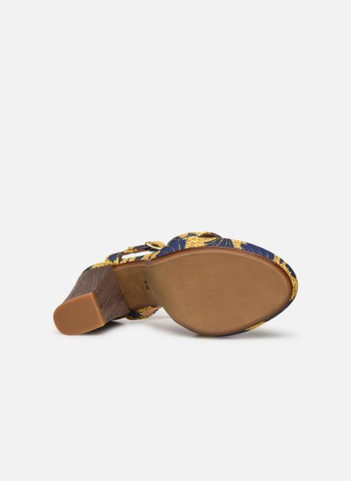 Sandales et nu-pieds Made by SARENZA Riviera Couture Sandales à Talon #7 Jaune vue haut