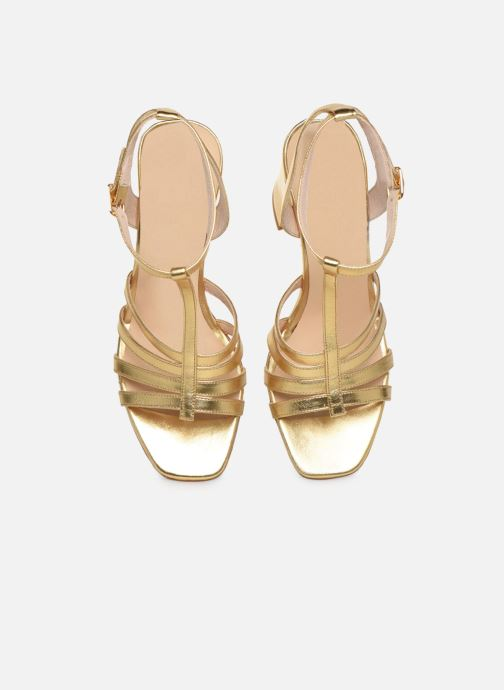 Sandali e scarpe aperte Made by SARENZA Africa Vibes Sandales à Talons #1 Oro e bronzo modello indossato