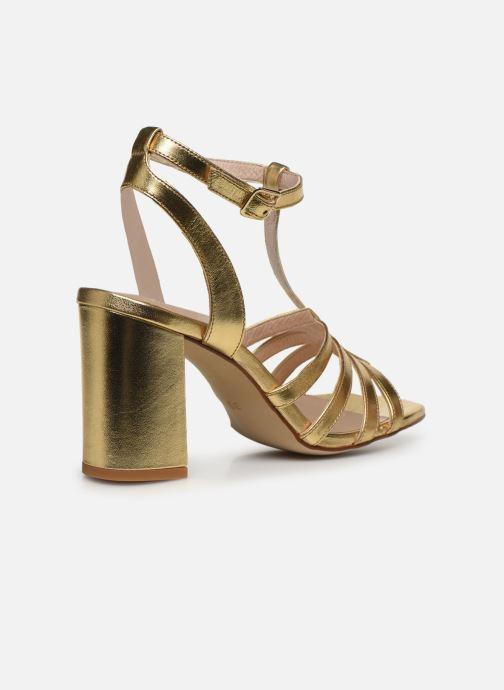 Sandales et nu-pieds Made by SARENZA Africa Vibes Sandales à Talons #1 Or et bronze vue face