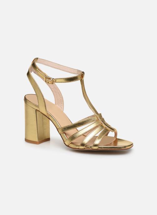Sandales et nu-pieds Made by SARENZA Africa Vibes Sandales à Talons #1 Or et bronze vue droite