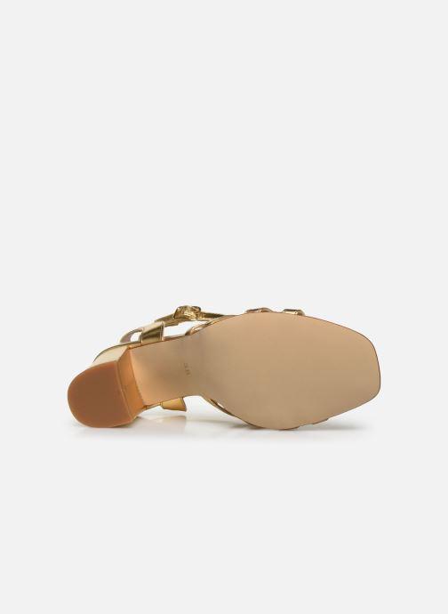 Sandales et nu-pieds Made by SARENZA Africa Vibes Sandales à Talons #1 Or et bronze vue haut