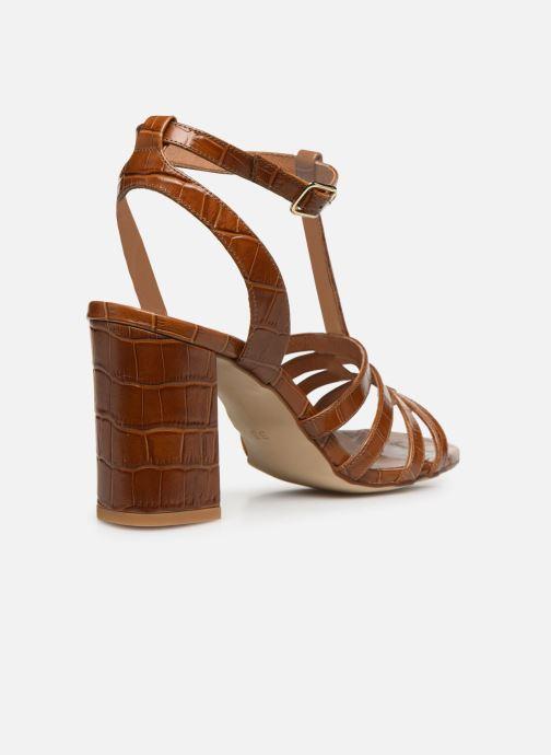Sandales et nu-pieds Made by SARENZA Africa Vibes Sandales à Talons #1 Marron vue face