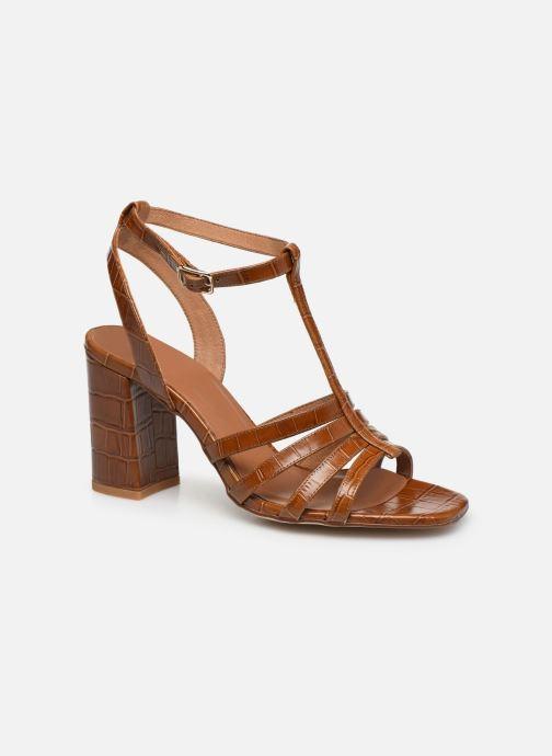 Sandales et nu-pieds Made by SARENZA Africa Vibes Sandales à Talons #1 Marron vue droite