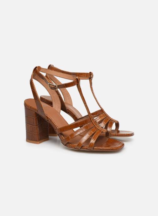 Sandales et nu-pieds Made by SARENZA Africa Vibes Sandales à Talons #1 Marron vue derrière