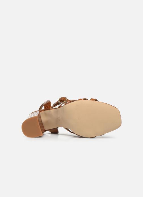 Sandales et nu-pieds Made by SARENZA Africa Vibes Sandales à Talons #1 Marron vue haut