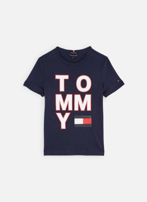 Vêtements Tommy Hilfiger T-shirt Multi Application Aw Tee S/S Bleu vue détail/paire