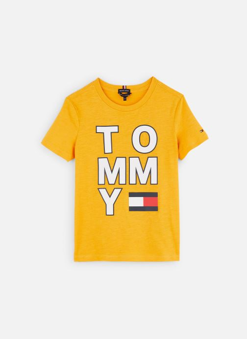 Kleding Tommy Hilfiger T-shirt Multi Application Aw Tee S/S Geel detail
