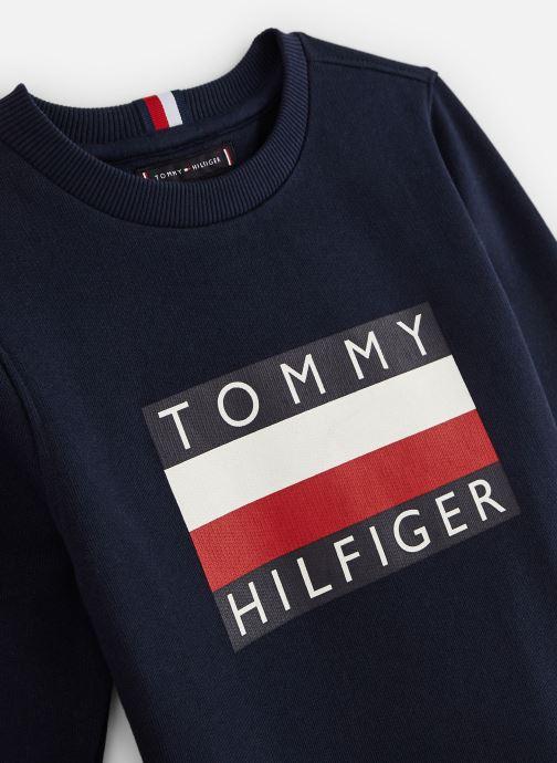 Vêtements Tommy Hilfiger Sweatshirt Essential Hilfiger Sweatshirt Bleu vue portées chaussures