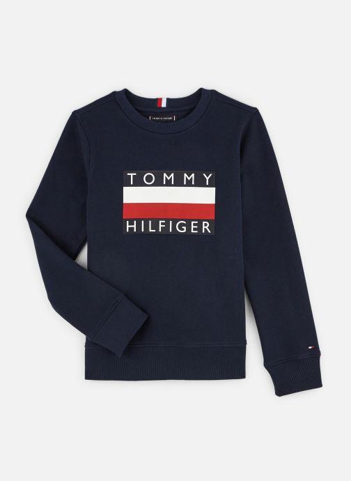 Vêtements Tommy Hilfiger Sweatshirt Essential Hilfiger Sweatshirt Bleu vue détail/paire