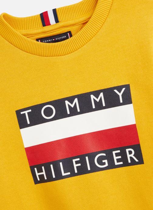 Vêtements Tommy Hilfiger Sweatshirt Essential Hilfiger Sweatshirt Jaune vue portées chaussures