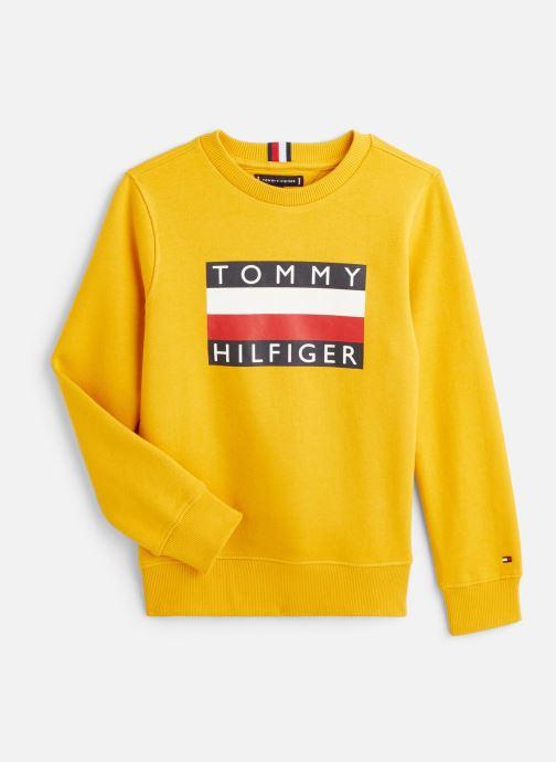 Vêtements Tommy Hilfiger Sweatshirt Essential Hilfiger Sweatshirt Jaune vue détail/paire