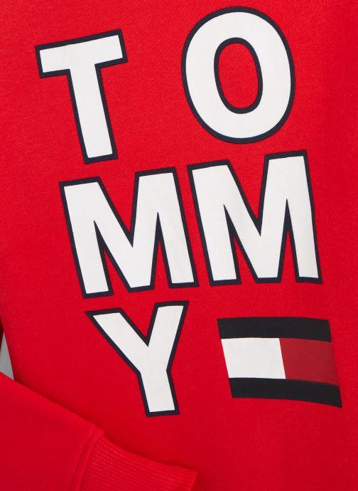 Vêtements Tommy Hilfiger Sweatshirt hoodie Multi Aw Graphic Hoodie Rouge vue portées chaussures