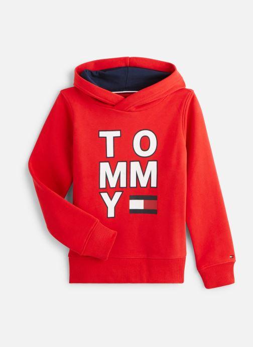 Vêtements Tommy Hilfiger Sweatshirt hoodie Multi Aw Graphic Hoodie Rouge vue détail/paire