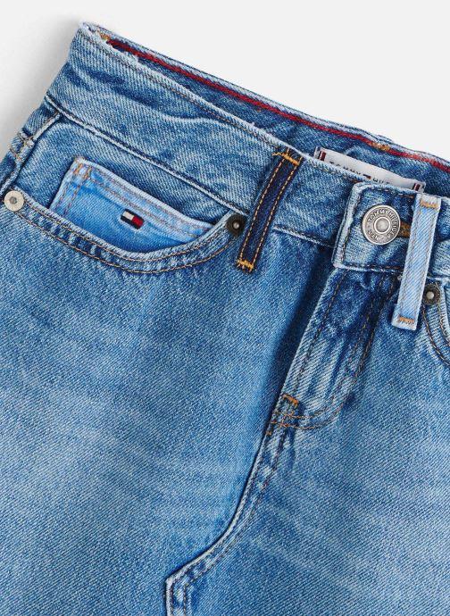Vêtements Tommy Hilfiger Jupe mini A-Line Skirt Upcd Bleu vue portées chaussures