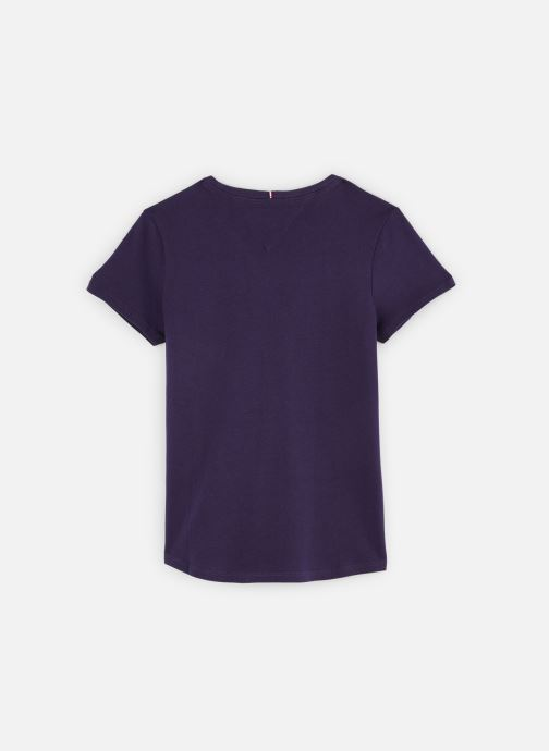 Vêtements Tommy Hilfiger T-shirt Hilfiger Tee S/S Bleu vue bas / vue portée sac