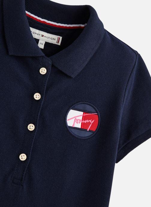 Vêtements Tommy Hilfiger Robe midi Essential Polo Dress Bleu vue portées chaussures