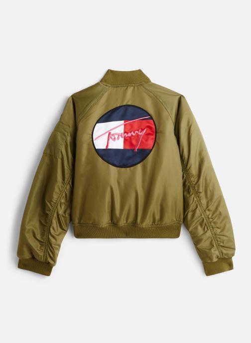 Vêtements Tommy Hilfiger Veste blouson Utility Bomber Jacket Vert vue bas / vue portée sac