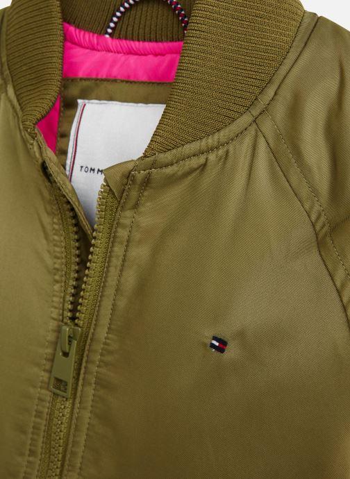Vêtements Tommy Hilfiger Veste blouson Utility Bomber Jacket Vert vue portées chaussures