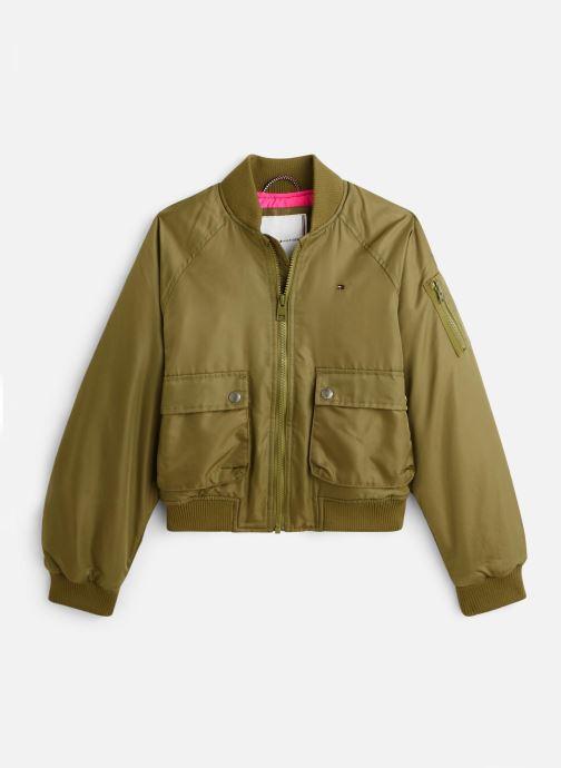 Vêtements Tommy Hilfiger Veste blouson Utility Bomber Jacket Vert vue détail/paire