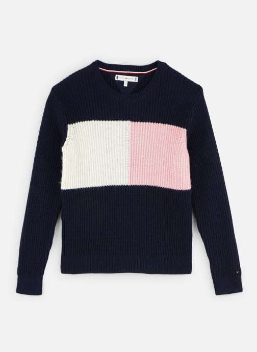 Vêtements Tommy Hilfiger Sweatshirt Essential Colourblock Sweater Bleu vue détail/paire
