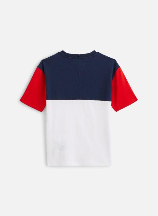 Vêtements Tommy Hilfiger T-shirt Tommy 1985 Colourblock Tee S/S Bleu vue bas / vue portée sac