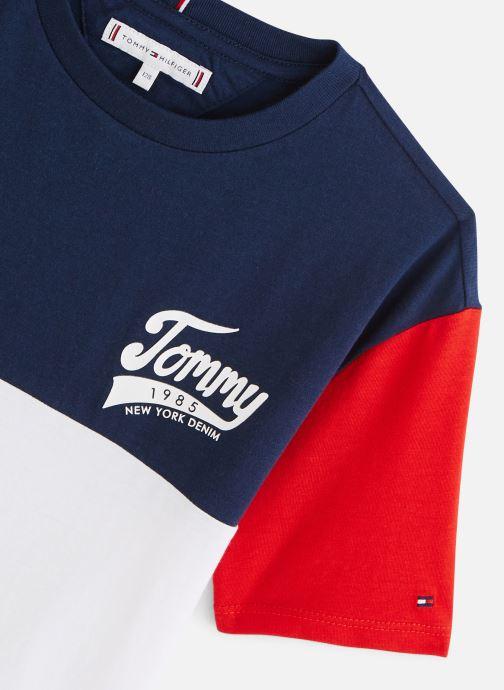 Vêtements Tommy Hilfiger T-shirt Tommy 1985 Colourblock Tee S/S Bleu vue portées chaussures