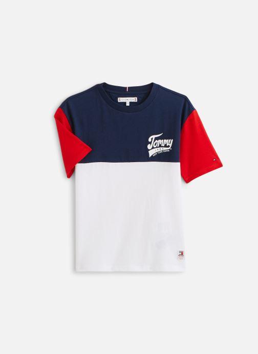 Vêtements Tommy Hilfiger T-shirt Tommy 1985 Colourblock Tee S/S Bleu vue détail/paire