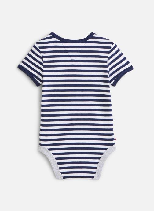 Vêtements Tommy Hilfiger Body manches courtes Baby Striped Body S/S Bleu vue bas / vue portée sac