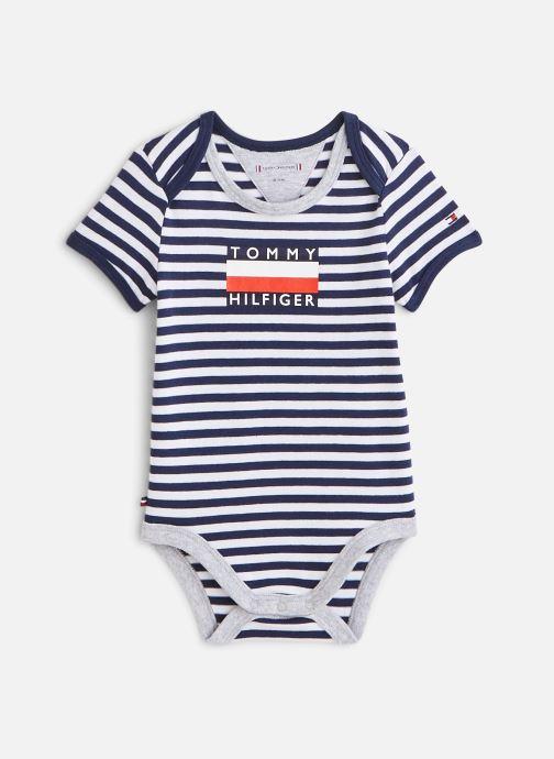 Vêtements Tommy Hilfiger Body manches courtes Baby Striped Body S/S Bleu vue détail/paire