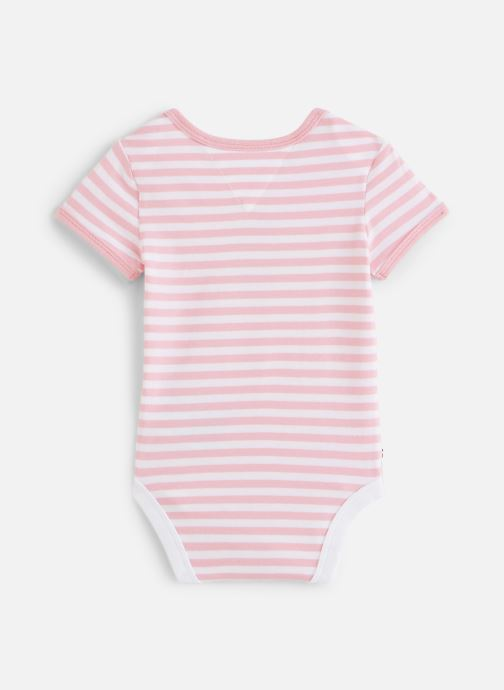 Tøj Tommy Hilfiger Body manches courtes Baby Striped Body S/S Pink se forneden