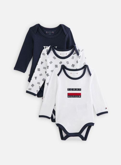 Vêtements Tommy Hilfiger Body manches longues Baby Body 3 Pack Giftbox Blanc vue détail/paire