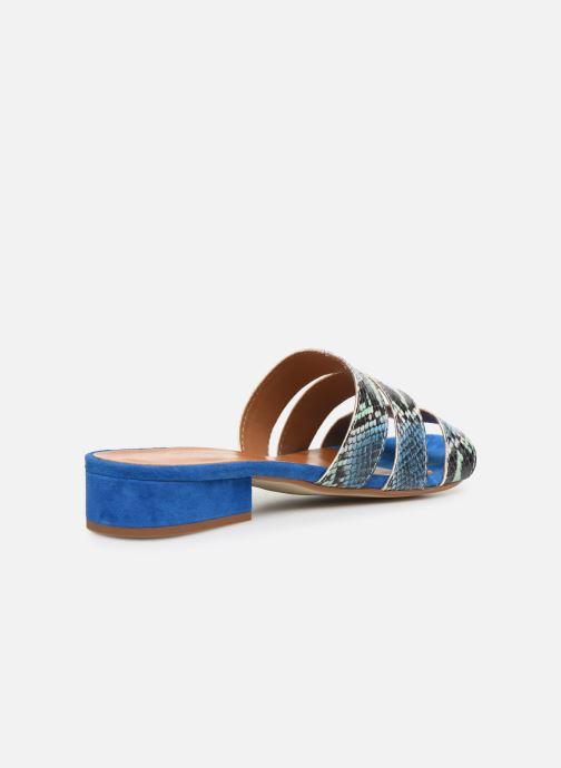 Zuecos Made by SARENZA Africa Vibes Mule #2 Azul vista de frente