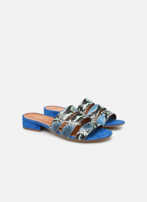 Wedges Made by SARENZA Africa Vibes Mule #2 Blauw achterkant